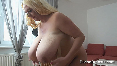 Emilia Blond with Heavy Big Tits