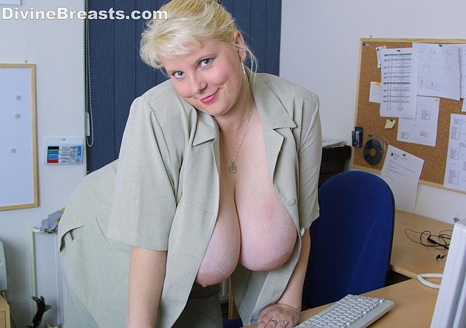 June Kelly Busty Blonde Secretary