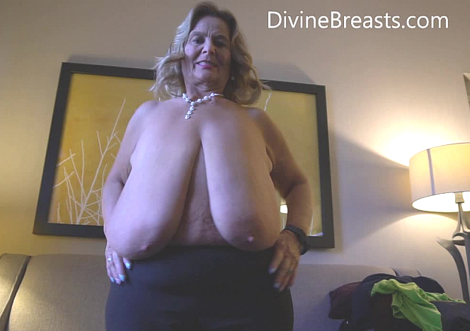 Sarah Long Breasts in Her Lap