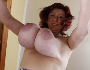 Dangling milf tits