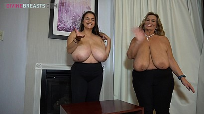 Alaura Grey and Sarah Compare Bras n Tits
