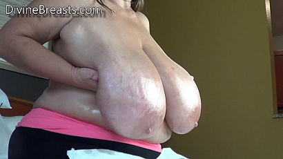 Sarah Baby Oiled Giant Tits