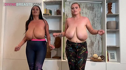 Helen and Erin Busty Aerobics Babes